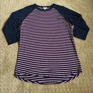 3/ $20 Lularoe Large baseball shirt